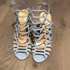 NWT schutz Jaden baby blue block heels